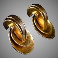 Retro Monet Vermeil Earrings Bold