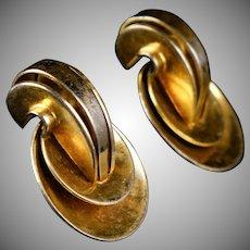 Retro Monet Vermeil Earrings Bold