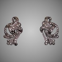 Art Deco Sterling Silver Marcasite Earrings