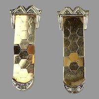 Flexible 14K Rose Gold Diamond Earrings