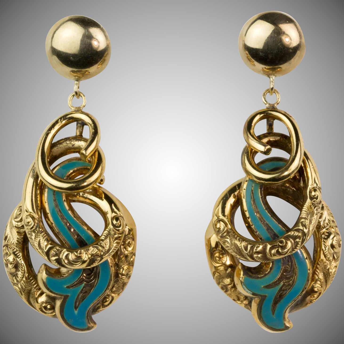 blue maison enamel victorian earrings product ray