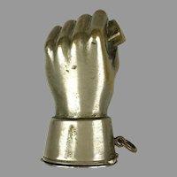 Antique 19th C Figural Fist Match Safe Vesta