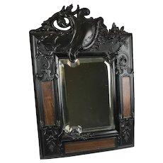 RARE Victorian French Gutta Percha Beveled Mirror