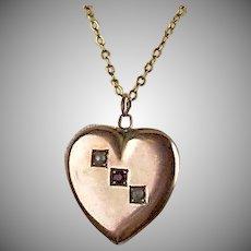 Sweet Deco 10K Gold Valentine Heart Pendant