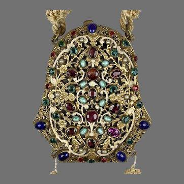 VERY RARE Antique Austrian Jeweled Evening Bag