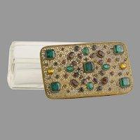Rare Large Antique Austrian Jeweled Box