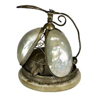 Antique 19th C Mother of Pearl Butler Bell RARE
