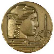 Large Art Deco Bronze Medallic Art Medal