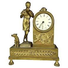 Special 19th C French Gilt Bronze Figural Clock