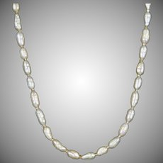 Vintage 14K Gold Fresh Water Pearl Necklace