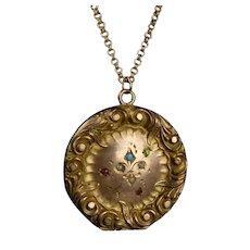 Art Nouveau GF Jewels Locket Pendant