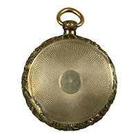 Victorian Large Gold Double Sided Locket