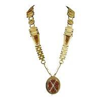Antique Victorian Goldstone Necklace  RARE