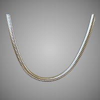 Thick Vermeil Snake Chain Necklace by Forstner