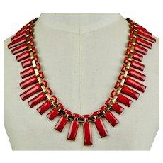Matisse Red Enamel & Copper Necklace