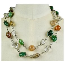 Sterling Silver with Semi Precious Stones Necklace