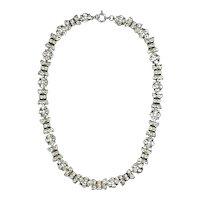 Brilliant Art Deco Sterling Paste Necklace