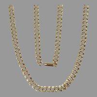 "Vintage Krementz Gold Filled 30"" Double Link Chain Necklace"