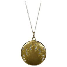 Art Deco Gold Filled Paste Jewels Locket
