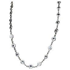Art Deco Sparkling Rock Crystals Riviere Necklace