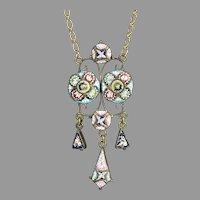 Exquisite Antique Micro Mosaic Necklace