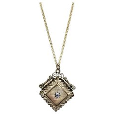 Victorian Gold Filled Paste Chased Locket Pendant Charm