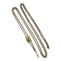 Victorian Long Chunky Chain with Dimensional Slide