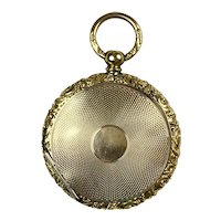 Large Victorian Gold Double-Sided Locket with Photos