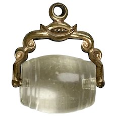 Victorian Crystal Barrel Swivel Charm Pendant