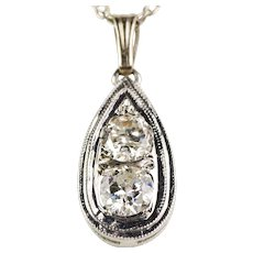 Vintage Art Deco 14K Gold Diamond .75ctw Pendant  Lovely Classic Design  Top Quality - Red Tag Sale Item
