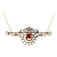 Victorian 14K Rose Gold Pendant Necklace