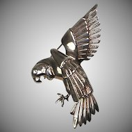 Nettie Rosenstein Sterling Silver Pin   Signed   Large 3D Bird   RARE & Fabulous