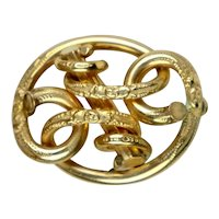 Victorian 18K Love Knot Brooch Pendant