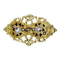 Antique Victorian 14K Gold Enamel Brooch