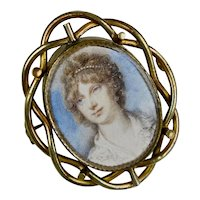 Large Victorian Rolled Gold Photo Locket Brooch