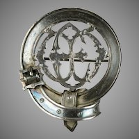 Impressive Scottish Victorian Sterling Buckle Pin Brooch