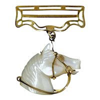 Victorian Mother of Pearl Horse Charm