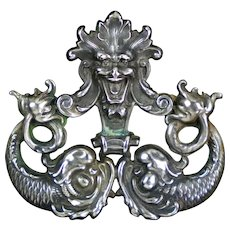 Rare Unger Bros Sterling Silver Figural Brooch