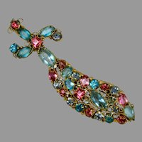 Vintage Large Robert Jeweled Sword Brooch Pin