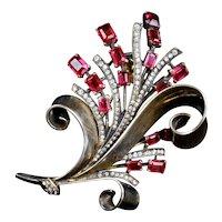 Captivating Alfred Philippe Trifari Rose Gold Vermeil Pin