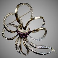 Signed Coro Craft Sterling Vermeil Pin