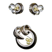 Gorgeous Retro Jomaz Pin Earrings Set