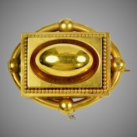 Dimensional Victorian 14K Gold Brooch