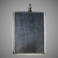Art Deco Large Sterling Silver Locket