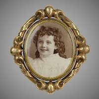 Victorian Large Gold Swivel Brooch