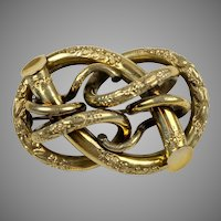 Victorian Large Intricate Love Knot Brooch Pin