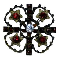 Victorian Clover Red & White Paste Gold Fronts