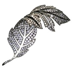 Meticulously Crafted Sterling Paste Leaf Pin