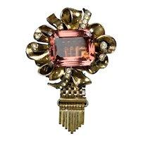 Big & Bold Rose Gold Tassel Pin by Kreisler