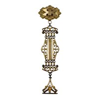 Victorian Watch Fob with Seal on Openwork Pin